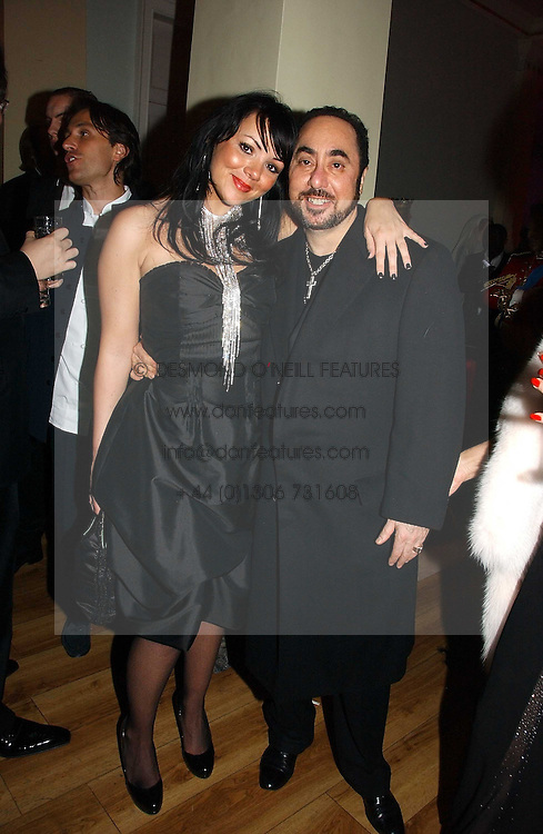 DAVID GUEST and MARTINE McCUTCHEON at Andy & Patti Wong's annual Chinese New year Party, this year to celebrate the Year of The Pig, held at Madame Tussauds, Marylebone Road, London on 27th January 2007.<br />