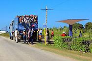 Truck transit in Campechuela, Granma, Cuba.