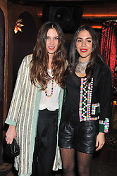 Left to right, TATIANA SANTO DOMINGO and DANA ALIKHANI at a party to celebrate the opening of the Muzungu Sisters Pop Up Store at Momo - an ethically sourced fashion brand  held at Momo, 25 Heddon Street, London on 27th October 2011.