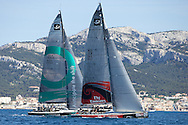 FRANCE, Marseille, 10th June 2009, AUDI MedCup, Marseille Trophy, Race 3, Quantum Racing and Emirates Team New Zealand.