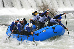 Seaeagle Team Vidra of Slovenia at Euro Cup 2009 R6 Rafting in TT & H2H and Slovenian National Championship 2009, on April 4, 2009, in Tacen, Ljubljana, Slovenia. (Photo by Vid Ponikvar / Sportida)