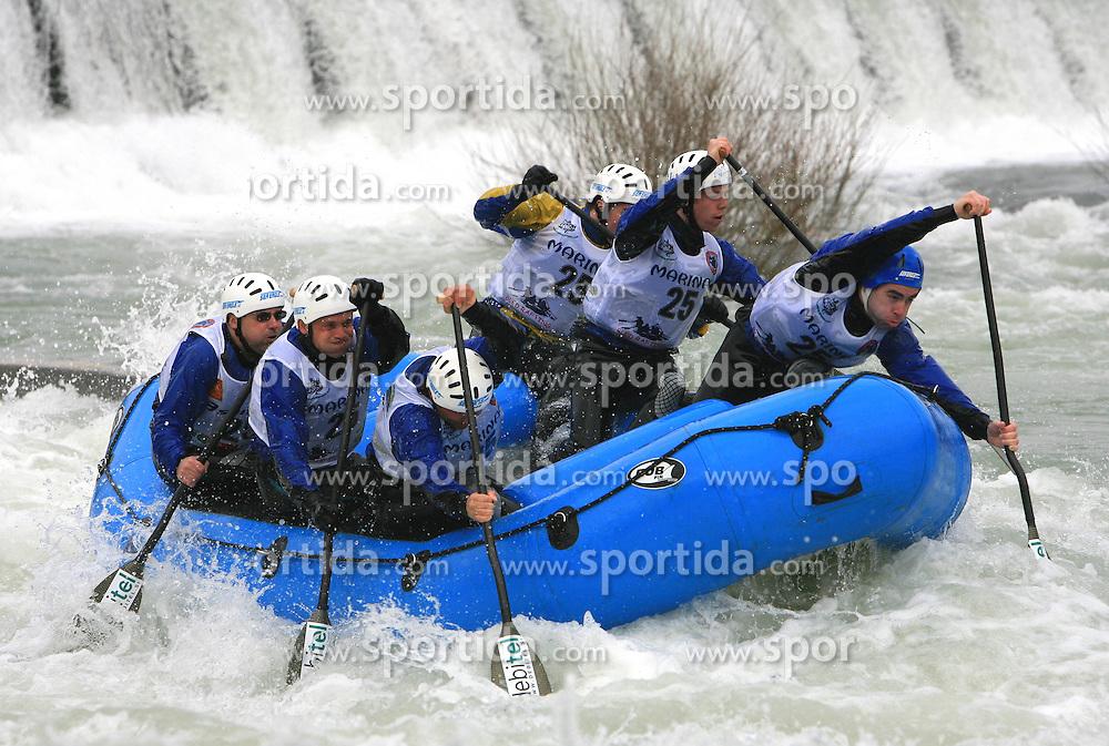 Seaeagle Team Vidra of Slovenia at Euro Cup 2009 R6 Rafting in TT & H2H and Slovenian National Championship 2009, on April 4, 2009, in Tacen, Ljubljana, Slovenia. (Photo by Vid Ponikvar / Sportida)