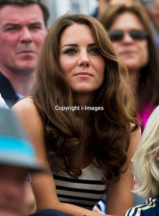 Duchess of Cambridge watching  Team GB competing in the show jumping at the London 2012 Olympics , Tuesday 31st July 2012 Photo by: i-Images