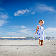 Images from a beach portrait session at Folly Beach Charleston County Park for Caroline, near Charleston, South Carolina.