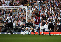 Photo: Rich Eaton.<br /> <br /> Aston Villa v Newcastle United. The Barclays Premiership. 27/08/2006. Juan Pablo Angel scores Aston Villas second goal