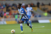 Brighton defender, full back, Gaetan Bong gets forward during the Sky Bet Championship match between Wolverhampton Wanderers and Brighton and Hove Albion at Molineux, Wolverhampton, England on 19 September 2015.