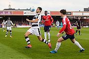Forest Green Rovers Omar Bugiel(11) controls the ball during the Vanarama National League match between York City and Forest Green Rovers at Bootham Crescent, York, England on 29 April 2017. Photo by Shane Healey.