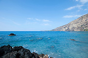 The blue waters of Kealakekua bay on the Big Island of Hawaii.