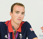 Olympic Games London 2012 <br /> <br /> Team GB Men's Lightweight Four Rowing team Silver Medal winners <br /> <br /> Press conference<br /> 2nd August 2012 <br /> <br /> Richard Chambers<br /> Peter Chambers<br /> Rob Williams<br /> Chris Bartley <br /> <br /> <br /> Photograph by Elliott Franks