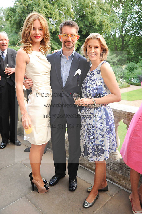 Left to right, TRINNY WOODALL, COUNT MANFREDIE DELLA GHERARDESCA and KATRIN BELLINGER at a party to celebrate the 250th anniversary of the Colnaghi Gallery held at Spencer House, London on 1st July 2010.