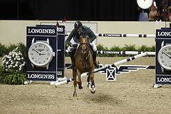 Guerdat, Steve, Albführen´s Paille<br /> Las Vegas - FEI Weltcup Finale Dressur und Springen 2015<br /> Springen Finale IV<br /> © www.sportfots-lafrentz.de/Stefan Lafrentz