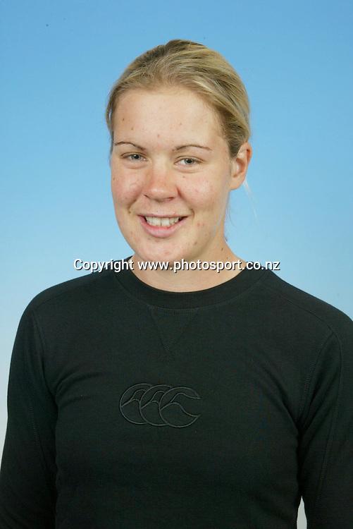 10 April 2003, New Zealand Womens Hockey headshots.<br />Kate Saunders<br />Pic: Sandra Teddy/Photosport