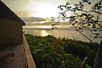 View from a bungalow deck of Golfo Dulce at Lapa Rios Ecolodge, Osa Peninsula, Costa Rica