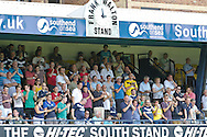 Picture by David Horn/Focus Images Ltd +44 7545 970036.18/08/2012.Southend United fans prepare for the start of the new season during the npower League 2 match at Roots Hall, Southend.