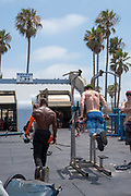 Image from Muscle Beach at Venice Beach, Los Angeles, California, on a beautiful summer day.