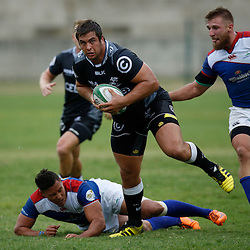 DURBAN, SOUTH AFRICA, 23, April 2016 - Juan Schoeman of the Cell C Sharks XV during the  Currie Cup Qualifiers match between The Cell C Sharks XV vs Windhoek Draught Welwitschias,King Zwelithini Stadium, Umlazi, Durban, South Africa. Kevin Sawyer (Steve Haag Sports) images for social media must have consent from Steve Haag