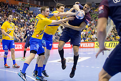 Daniel Narcisse of PSG during handball match between RK Celje Pivovarna Lasko (SLO) and Paris Saint-Germain Handball (FRA) in VELUX EHF Champions League, on February 11, 2018 in Dvorana Zlatorog, Celje, Slovenia. Photo by Urban Urbanc / Sportida