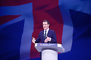 Conservative Party Conference Manchester Great Britain <br /> 5th October 2015 <br /> <br /> George Osborne<br /> First Secretary of State<br /> Chancellor of the Exchequer <br /> keynote speech <br /> <br /> <br /> Photograph by Elliott Franks <br /> Image licensed to Elliott Franks Photography Services