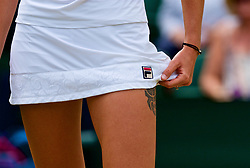 LONDON, ENGLAND - Monday, July 9, 2018: Karolina Pliskova (CZE) during the Ladies' Singles 4th Round match on day seven of the Wimbledon Lawn Tennis Championships at the All England Lawn Tennis and Croquet Club. (Pic by Kirsten Holst/Propaganda)