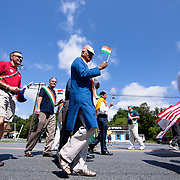 Marchers in colorful native costumes participate in the Inaugural India Day Parade Saturday. August. 18, 2012. in Hockessin Delaware...Indian's around the world celebrates india's 65th anniversary of india's independence from British rule and the country's birth as a sovereign nation on August 15, 1947.