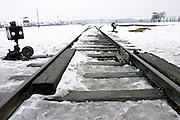 Auschwitz Concentration Camp. Railway, on Sunday, Apr. 16, 2006. **ITALY OUT**