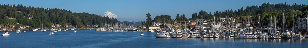 Gig Harbor, WA, pano, 130',Mount Rainier,