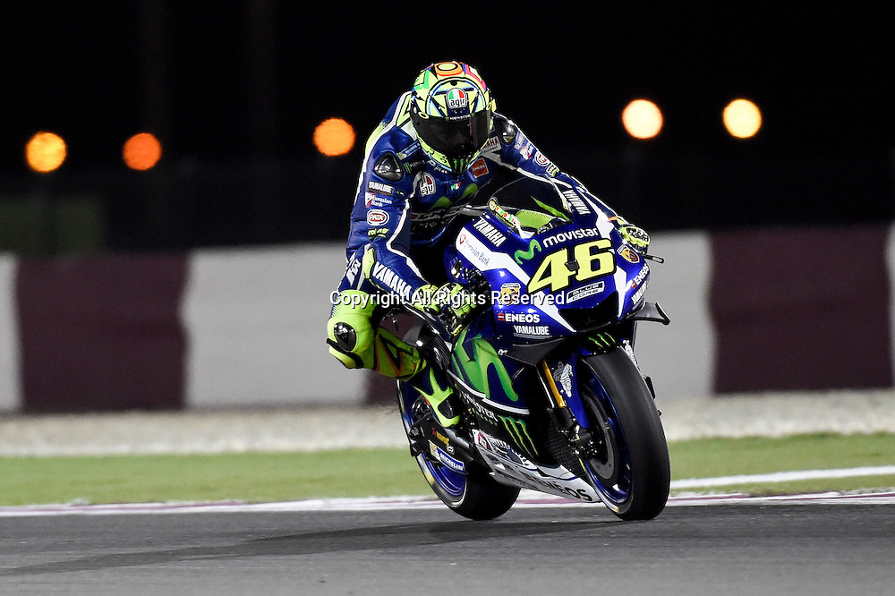 19.03.2016. Losail International Circuit, Doha, Qatar.Commercial Bank Grand Prix of Qatar. Valentino Rossi (Movistar Yamaha) home in 5th place during the qualifying sessions.
