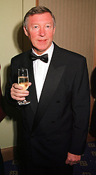 SIR ALEX FERGUSON the football manager, at a reception in London on 3rd February 2000.OAS 28
