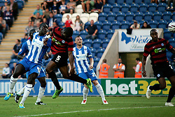 Peterborough United's Gabriel Zakuani scores the opening goal of the game  - Photo mandatory by-line: Joe Dent/JMP - Tel: Mobile: 07966 386802 06/08/2013 - SPORT - FOOTBALL - Weston Homes Community Stadium - Colchester -  Colchester United V Peterborough United - Capital One Cup - First Round