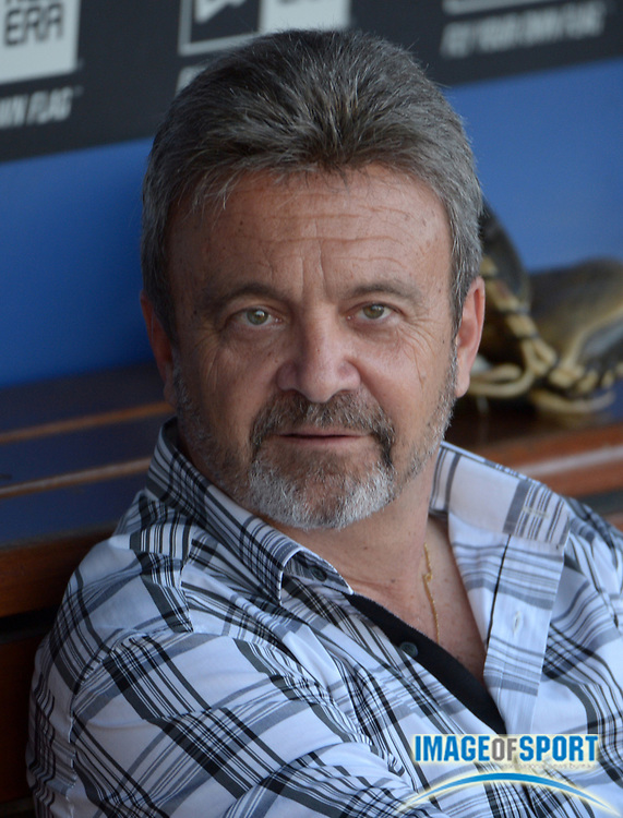 Jun 30, 2014; Los Angeles, CA, USA; Los Angeles Dodgers general manager Ned Colletti before the game against the Cleveland Indians at Dodger Stadium.