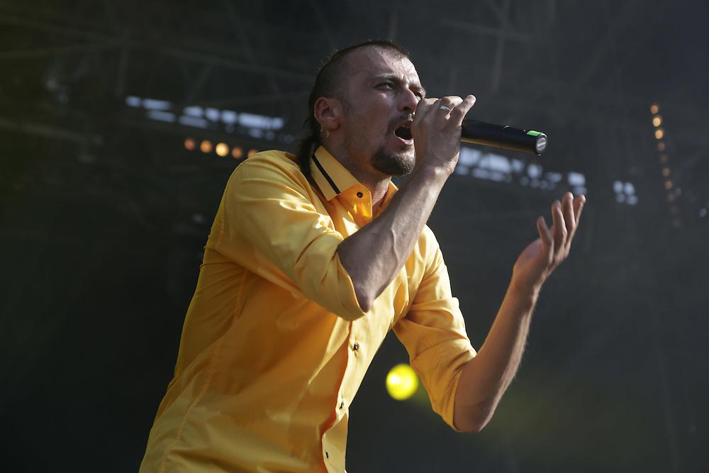 Dubioza Kolektiv,  performing at the 38th Paleo Festival, Switzerland.