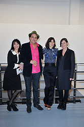 Left to right, KARMA NABULSI, GERRY FOX, BELLA FREUD and SADIE COLES at the Hopes & Dreams Private View - a film installation by Gerry Fox for The Hoping Foundation held at Sadie Coles Gallery, 4 New Burlington Place, London