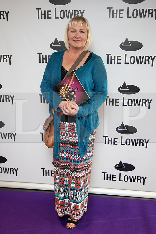 © Licensed to London News Pictures . 30/08/2017 . Salford , UK . Sue Cleaver . Purple carpet photos of celebrities, actors and invited guests arriving for the press night of the musical comedy , Addams Family , at the Lowry Theatre . Photo credit : Joel Goodman/LNP