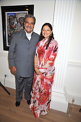 HIS HIGHNESS MAHARAJA GAJ SINGH I I OF MARWAR- JODHPUR and his daughter Princess Shivranjani Rajye at a party to launch the Indian Head Injury Foundation held at Thomas Gibson Fine Art Ltd. 31 Bruton Street, London on 16th June 2009