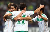 """Claudio Pizarro celebrates scoring<br /> Esultanza dopo il gol Werder<br /> Milano 01/10/2008 Stadio """"Giuseppe Meazza"""" <br /> Champions League 2008/2009<br /> Inter Werder Bremen (1-1)<br /> Foto Andrea Staccioli Insidefoto"""