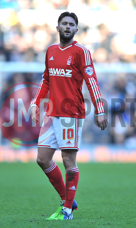 Nottingham Forest's Henri Lansbury who scored an own goal to make it 1 0 - Photo mandatory by-line: Dougie Allward/JMP - Mobile: 07966 386802 - 17/01/2015 - SPORT - Football - Derby - iPro Stadium - Derby County v Nottingham Forest - Sky Bet Championship
