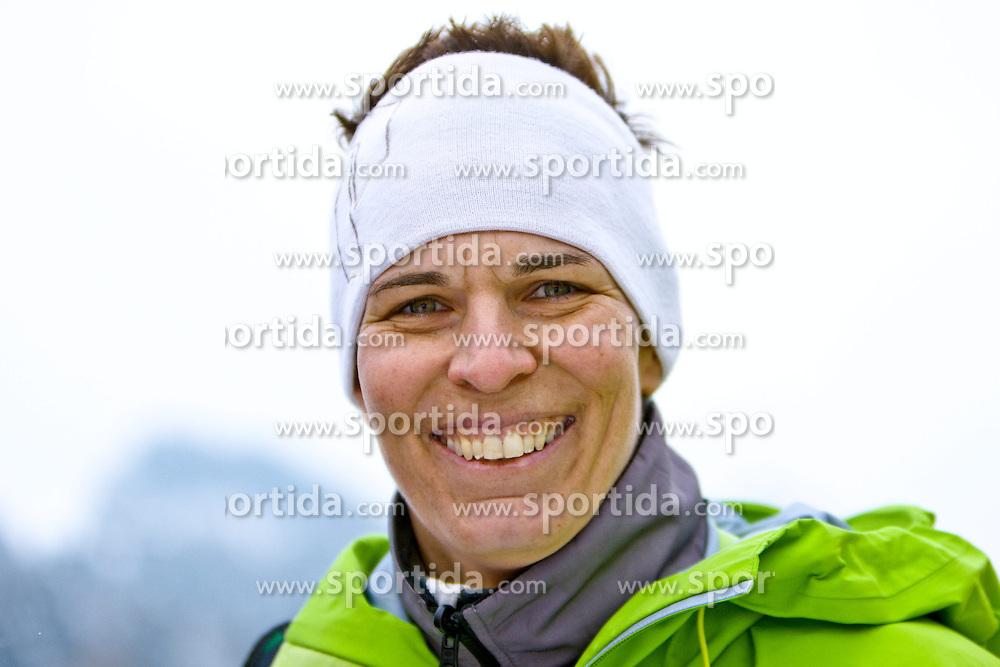 25.01.2013, Streif, Kitzbuehel, AUT, FIS Weltcup Ski Alpin, Abfahrt, Herren, Super G, im Bild Ex-Skirennlaeuferin Michaela Dorfmeister (AUT) // during mens SuperG ..of the FIS Ski Alpine World Cup at the Streif course, Kitzbuehel, Austria on 2013/01/25. EXPA Pictures © 2013, PhotoCredit: EXPA/ Markus Casna