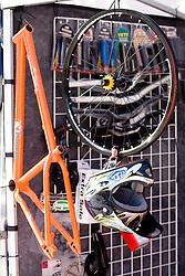 Cycling equipment at MTB Downhill European Championships, on June 13, 2009, at Kranjska Gora, Slovenia. (Photo by Vid Ponikvar / Sportida)
