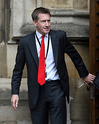 © London News Pictures. 09/05/2016. London, UK.  Labour MP DAN JARVIS outside the Houses of Parliament in London following to greet new MPs Chris Elmore and Gill Furniss following elections last week. Photo credit: Ben Cawthra/LNP