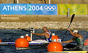 20040824 Olympic Games Athens Greece .[Canoe/Kayak Flatwater Racing]  Lake Schinias..K1 Men's 500m.GBR Ian Wynne at the start. going on to win his morning heat. .Photo  Peter Spurrier.email images@intersport-images.com...