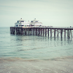 Manibu Pier coastal California photo. Malibu is a beach city in Southern California in the United States of America. Copyright ⓒ 2015 Paul Velgos with All Rights Reserved.