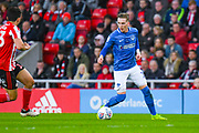 Ronan Curtis of Portsmouth (11) in action during the EFL Sky Bet League 1 first leg Play Off match between Sunderland and Portsmouth at the Stadium Of Light, Sunderland, England on 11 May 2019.