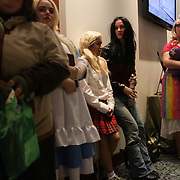 Convention goers stand in line Sunday December 7, 2014 during Aniwave 2014 at the Wilmington Convention Center in Wilmington, N.C. (Jason A. Frizzelle)