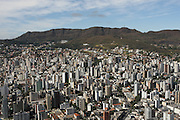 Belo Horizonte_MG, Brasil.<br /> <br /> Vista aerea de Belo Horizonte com a Serra do Curral ao fundo, Minas Gerais.<br /> <br /> Aerial view of Belo Horizonte and in the background Serra do Curral, Minas Gerais.<br /> <br /> Foto: RODRIGO LIMA / NITRO