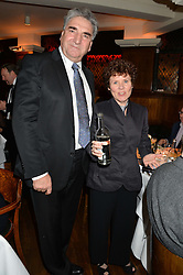 JIM CARTER and IMELDA STAUNTON at One Night Only at The Ivy in aid of Acting For Others supported by Tanqueray No.TEN Gin at The Ivy, 1-5 West Street, London on 1st December 2013.
