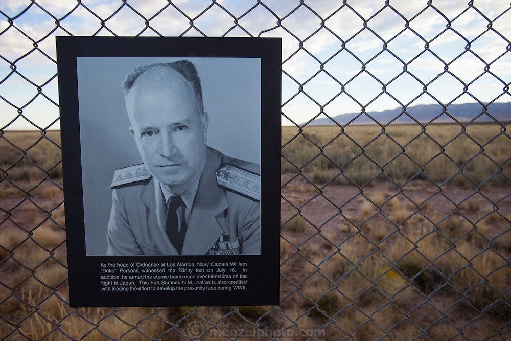"Site Trinity, ground zero, on the White Sands Missile Range in S. New Mexico. Site of the world's first atomic explosiion on August 6, 1945. The atomic bomb was developed by the Manhatten Project. The Manhattan Project refers to the effort during World War II by the United States, in collaboration with the United Kingdom, Canada, and other European physicists, to develop the first nuclear weapons. Formally designated as the Manhattan Engineering District (MED), it refers specifically to the period of the project from 1942-1946 under the control of the U.S. Army Corps of Engineers, under the administration of General Leslie R. Groves, with its scientific research directed by the American physicist J. Robert Oppenheimer. The project succeeded in developing and detonating three nuclear weapons in 1945: a test detonation on July 16 (the Trinity test) near Alamogordo, New Mexico; an enriched uranium bomb code-named ""Little Boy"" detonated on August 6 over Hiroshima, Japan; and a plutonium bomb code-named ""Fat Man"" on August 9 over Nagasaki, Japan. (http://en.wikipedia.org/wiki/Manhattan_Project)"