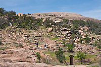 The Summit trail leads  hikers to the summit of Enchanted Rock. Enchanted Rock State Natural Area, Texas.