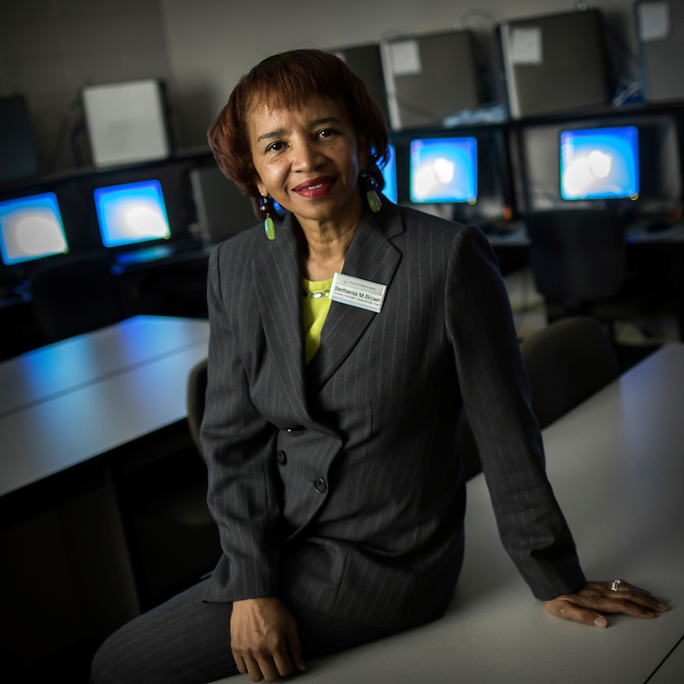 Faculty Expert Environmental Portraits - Paralegal Studies: Savannah Technical College Computer Programing instructor  Berthenia Mobley Brown at the Savannah campus, Tuesday April 7, 2015 in Savannah, Ga. (STC Photo/Stephen B. Morton)