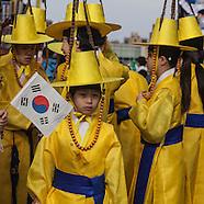NY476A Korean parade in Flushing