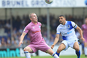 Stephen Dooley wins the ball during the EFL Sky Bet League 1 match between Bristol Rovers and Rochdale at the Memorial Stadium, Bristol, England on 22 April 2019.